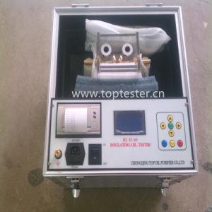 O óleo isolante portátil Resistência dielétrica do óleo do transformador testador (Iij-II-100)