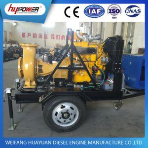 Conjunto de la bomba de agua del motor diesel con remolque para el riego