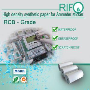 Oberfläche behandelte mit hoher Schreibdichte synthetisches Papier für Amperemeter-Aufkleber-Kennsätze