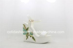 High Heels européenne Lady sandales de filtre en coin pour la mode Mesdames
