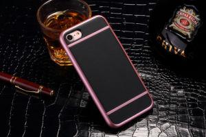 Novo Product Quality Plating Hybrid Leather Protection Phone Case