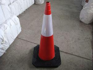 Cônes de circulation en caoutchouc de la sécurité routière (CC-A101)