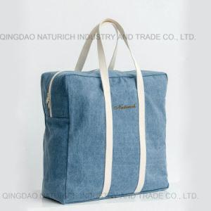 Casual blue denim Jean sac fourre-tout pour les femmes en stock