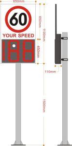 A segurança do tráfego LED pisca a Luz de Advertência Sinal de Velocidade do Radar