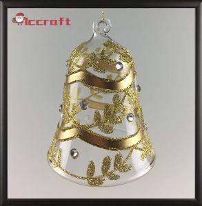 عيد ميلاد المسيح [غلسّ بلّ] مع نوع ذهب لون ([لكب--0003])