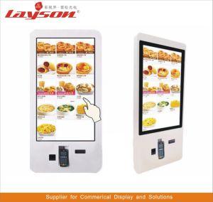プレーヤーLCDの表示のデジタル表記の順序の食糧切符の自動販売機の自己サービスバンクカードのビルの支払のターミナルタッチ画面のキオスクを広告する15.6インチ