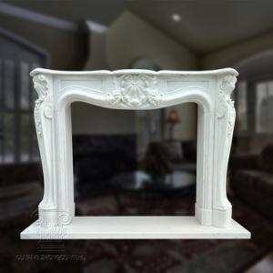 Домашняя оформление серые Карвинг мраморный камин объемного звучания