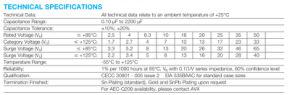 Taja106K016rnj 16V 1206 Standard- und flache Tantal-Kondensatoren