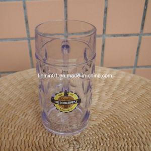 Plástico presente de promoção a beber cerveja Stein caneca com impressão de logotipo