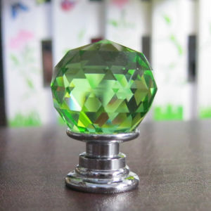 Green Furniture Accessories Pull Knob Dia. 20mm * 30mm Without Lock