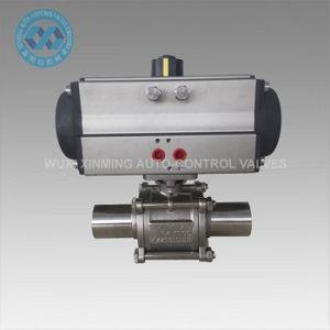 Actuador neumático Válvula de bola de sanitarios de tres vías
