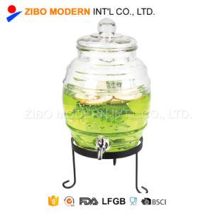 Venda por grosso de bebidas dispensador de bebidas frias de vidro pode com torneira