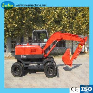Los pequeños equipos de construcción de la excavadora Excavadoras de ruedas con la marca china