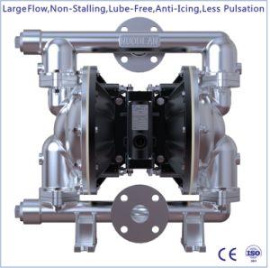 1-1/2 un grand débit en acier inoxydable de la pompe entraînée par l'air à double membrane