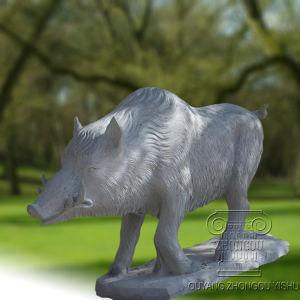 Jabalí la escultura de mármol, estatuas de animales