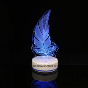 Acrylfeder-Form, leuchtende Lampe, Geschenk-Lampe