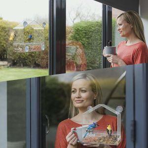 أكريليكيّ نافذة عصفور مغذّ بالجملة مع فائقة قوّيّة مصد فنجان