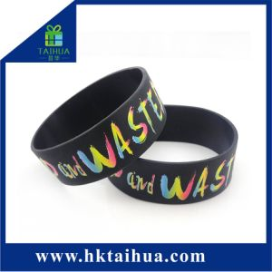 Um tamanho em polegadas barato lindo bracelete de silicone para a parte