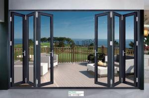 Material de construção 1.2-2.0 Espessura Porta Bi-Fold/porta de alumínio/Porta de liga de alumínio/porta rebatível