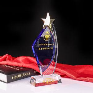 Five-Star troféu de cristal de metal de recreio