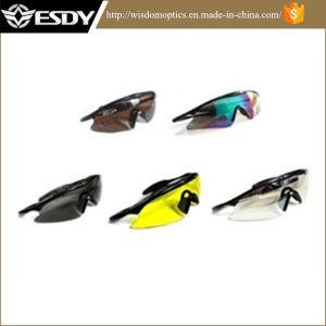 5 цветов тактических Airsoft спорта защиты полиции съемки очки защитные очки