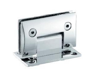 Dobradiça de porta de vidro com chuveiro de bronze giratório de 360 graus