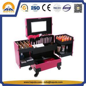 Hot Sale Fashion Mesdames beauté Valise Trolley cas cosmétiques pour spécialiste de l'ongle (HB-6342)