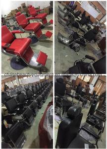 大広間装置のための陶磁器の洗面器が付いている黒いシャンプーの椅子の単位