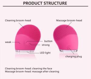 Masajeador de silicona eléctrico Face Cleanser Cepillo de limpieza facial