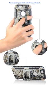 2017の新しい携帯電話のアクセサリカスタムカバー紫外線印刷のS8 Edge/S8のための頑丈で黒いホルスターの電話箱
