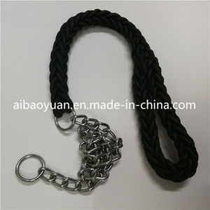 Cuerdas poliéster en color negro de la cuerda de tracción animal y de los anillos de hierro juegos de perros