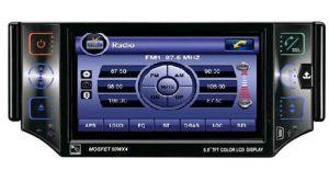 5-дюймовый сенсорный экран In-Dash 1 DIN DVD плеер с функцией GPS, телевизор, карту памяти SD, USB, iPod, двухзонная -1