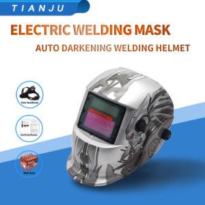 107t96 Clásico Robot precios baratos de material PP Anti-UV Ventilación Smashing Casco de soldar 90*110 casco de la soldadura de Energía Solar