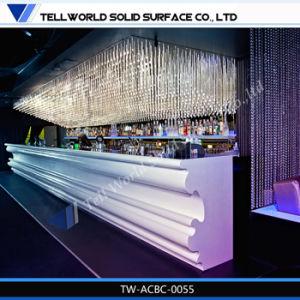 Твердая поверхность Customied ночной клуб светодиодной панели счетчик для продажи