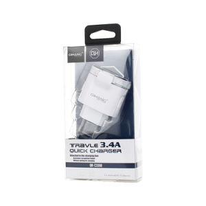 3.4A дважды быстро USB телефона зарядное устройство с 24 см кабель micro-USB