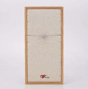 cassetto di tela della visualizzazione della collana di colore giallo del taglio laterale di modo