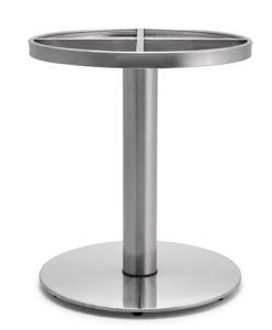 (SC-734)レストランの家具のためのブラシのステンレス鋼のダイニングテーブルベース