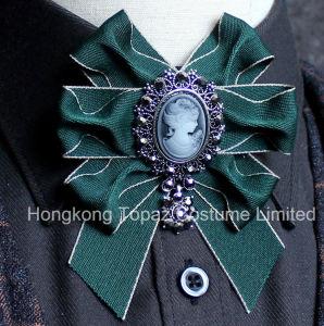 2018 Broche van het Bergkristal van de Vlinderdas van de Manier de Hoogwaardige Voor de Broche van Bowknot van de Band van de Zijde van het Kostuum van Vrouwen of van de Man (cb-09)