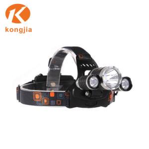 防水高い発電4のモードアルミニウムヘッドランプ再充電可能なLEDのヘッドライト