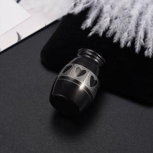 Urna de la ceniza de la cremación de la joyería del recuerdo del acero inoxidable del corazón 316L