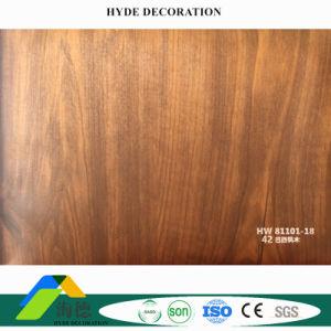 Het houten Patroon Gelamineerde Ontwerp van de Tegel van het Plafond van het Comité van de Muur van pvc van de Film Plastic van de Fabriek van China