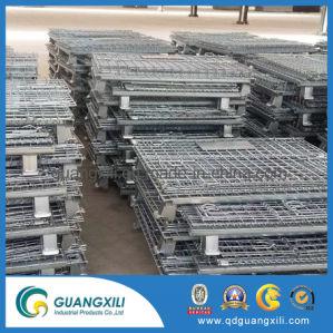 El frío metal electrónico plegable de acero galvanizado de palets de malla de alambre galvanizado soldado