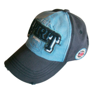 Black lavada Dad Hat Logotipo com Gj1735m