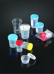Marquage CE et de la FDA 90ml Analyse d'urine spécimen enregistré un conteneur avec l'onglet Sécurité et la stérilité d'étiquette
