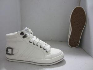 Los nuevos estilos casuales Zapatos de lienzo blanco vulcanizado