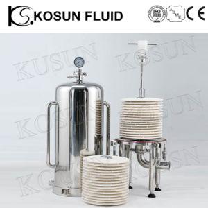 De sanitaire Lenticular Huisvesting van de Filter voor Filtratie Wine&Beer