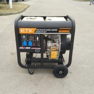 8kw generador de Diesle Monofásica con blanco el depósito de combustible