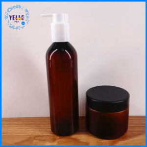 毛のクリーム色の化粧品瓶およびびんの装飾的なプラスチック瓶