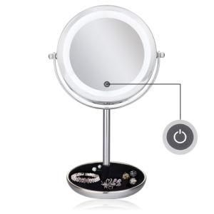 5X het overdrijven van Spiegel van de LEIDENE de Aangestoken Make-up van de Desktop met Licht