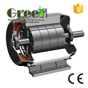 100kw 200rpm RPM basso alternatore senza spazzola di CA di 3 fasi, generatore a magnete permanente, dinamo di alta efficienza, Aerogenerator magnetico